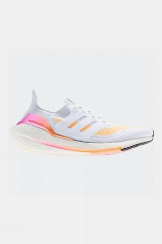Adidas Womens Ultraboost 21 White/Orange (DNU)