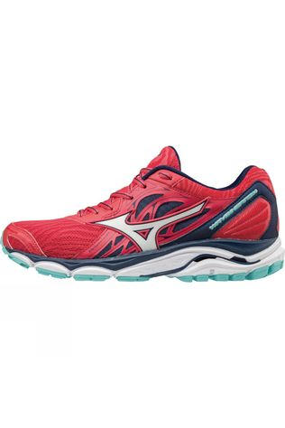 Mizuno Womens Wave Inspire 14 Teaberry / White / Blue Depths