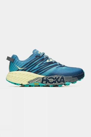 Hoka One One Womens Speedgoat 4 Wide Provincial Blue/ Luminary Green