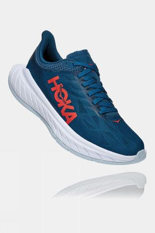 Hoka One One Womens Carbon X 2 Moroccan Blue/ Hot Coral