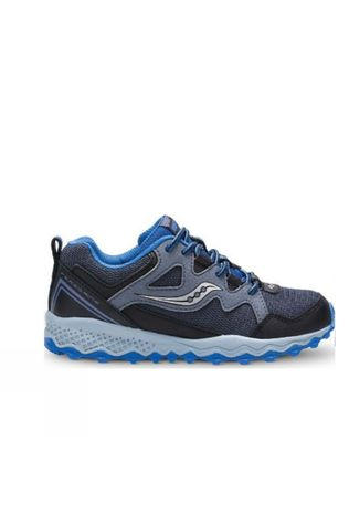 Saucony Boys Peregrine Shield 2 Grey/Black/Blue