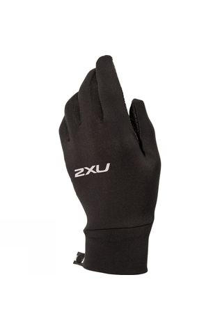 2XU Unisex Run Gloves Black/ Black Reflective