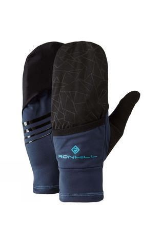 Ronhill Wind-Block Flip Glove Deep Navy/Spa Green