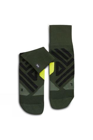 On Men's Mid Sock Jungle/Lime
