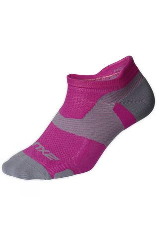 2XU Vectr Light Cushion Low Sock Magenta/Grey