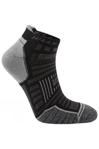 Hilly Twin Skin Socklet Black/Grey Marl