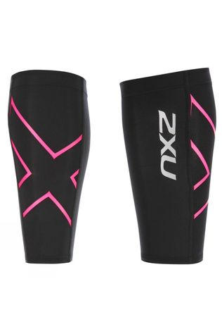 2XU Calf Guard Black/Pink Glow