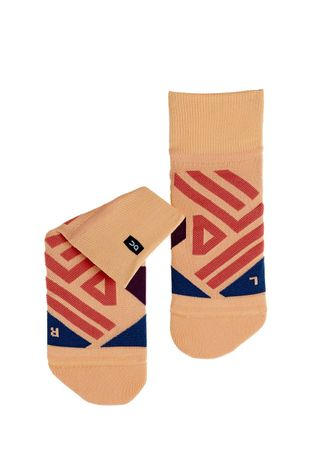 On Women's Mid Sock Coral/Navy