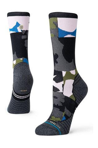 Stance Womens Caught Crew BLK