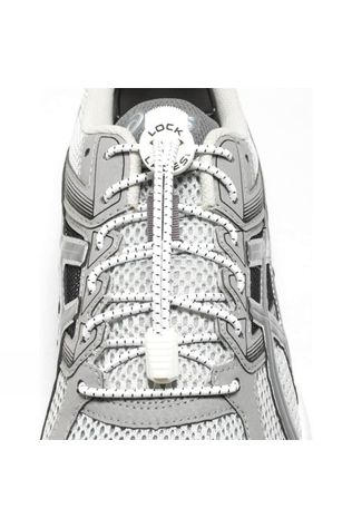 Run Lock Laces White