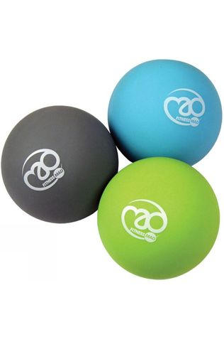 Fitness Mad Trigger Point Massage Ball Set Black/Green/Blue