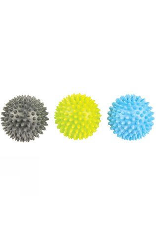Fitness Mad Spikey Massage Ball Set of 3 Black/Yellow/Blue