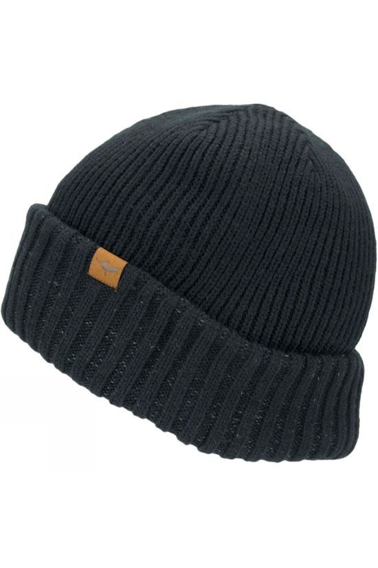 SealSkinz Mens Waterproof Cold Weather Roll Cuff Beanie Black