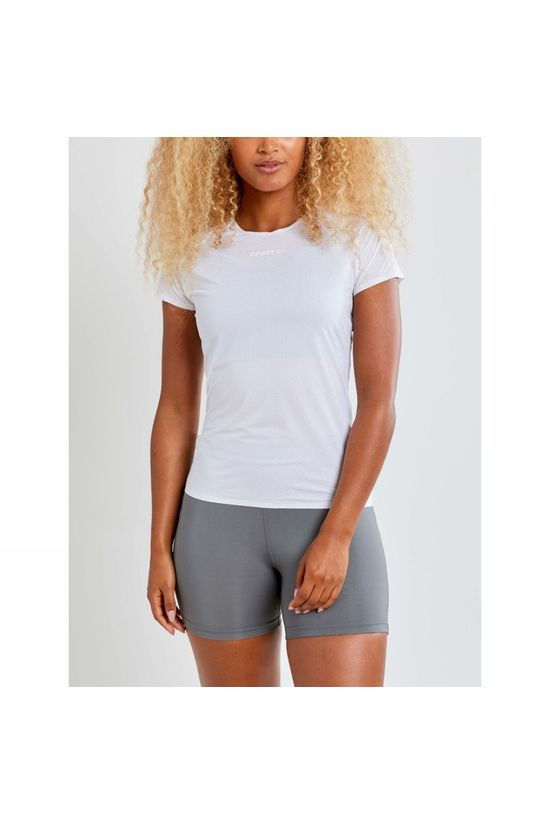 Craft Womens Pro Dry Nanoweight Short Sleeve Baselayer White