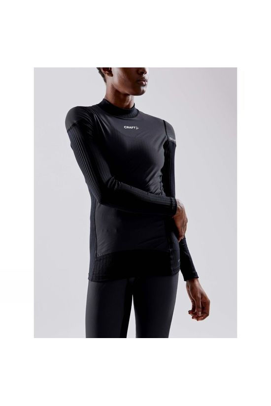 Craft Womens Active Extreme X Wind Long Sleeve Baselayer Black/Granite