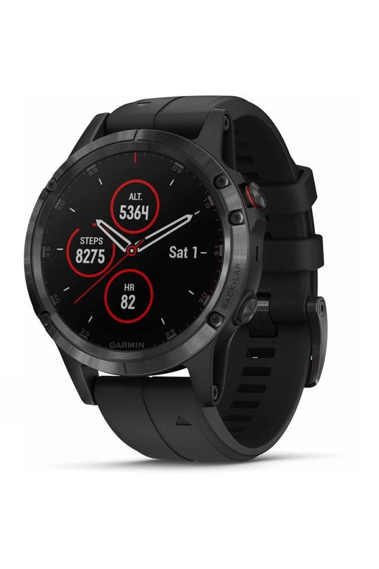 Garmin Fenix 5 Plus Sapphire Multisport GPS Watch Black with Black Band