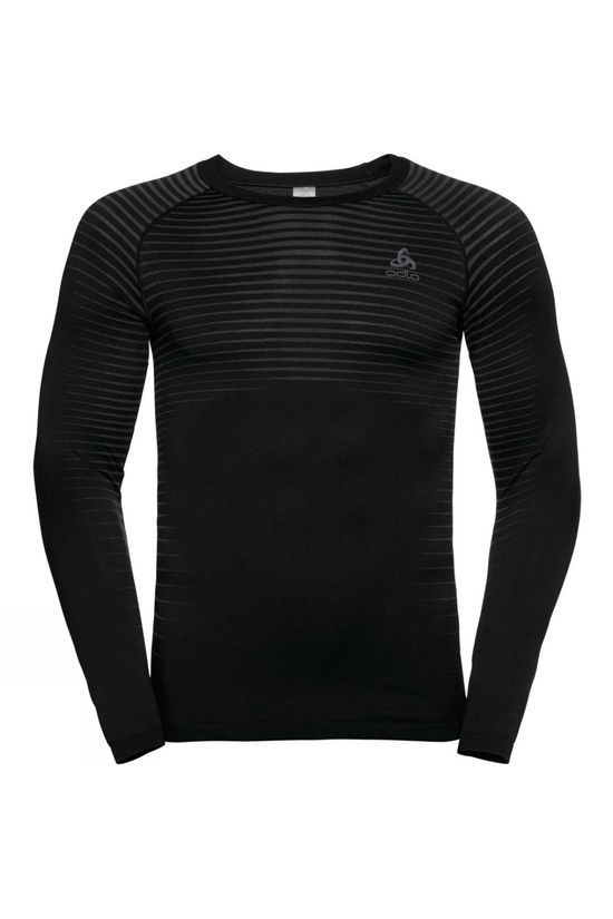 Odlo Mens Performance Light LS Crew Neck Black