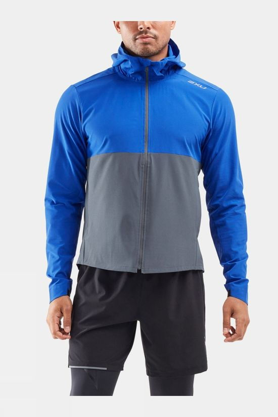 2XU Men's XVENT DWR Jacket Chilled Cobalt/Turbulence