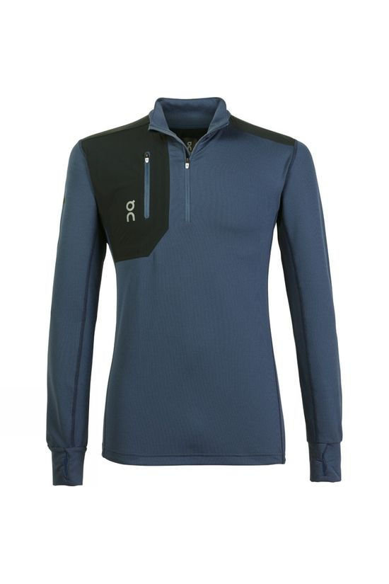 On Men's Clima Long Sleeve Shirt Navy/Black