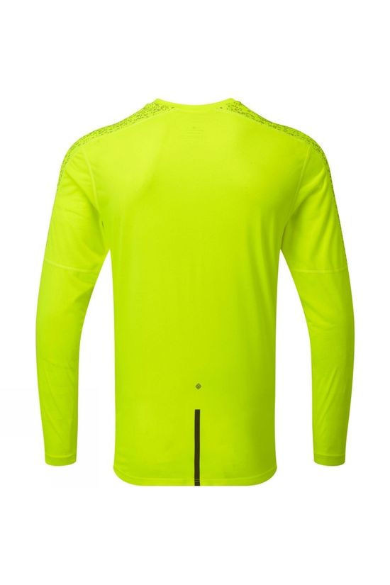 Ronhill Men's Life Night Runner L/S Tee Fluo Yellow/Reflect