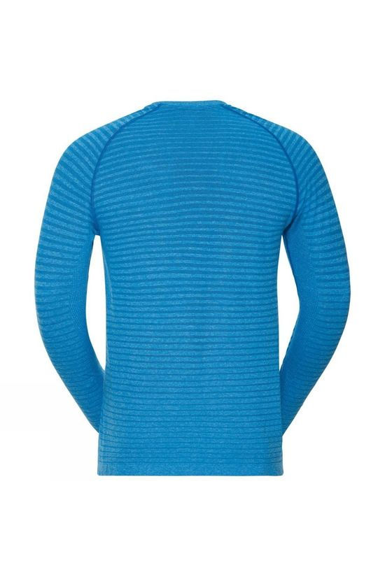 Odlo Mens Seamless Element Long Sleeve Crew Neck T-Shirt Tumultuous Sea Melange