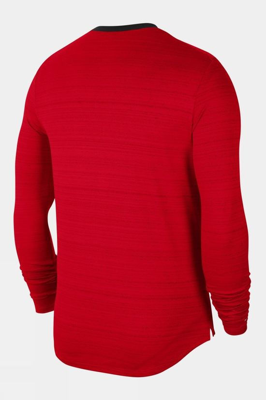 Nike Men's Dri-Fit Miler LS Top University Red