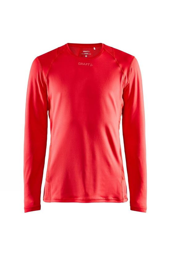 Craft Advance Essence Long Sleeve Tee Bright Red