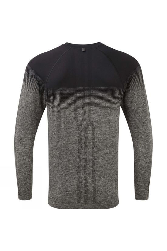 Ronhill Men's Tech Marathon L/S Tee Black/Grey Marl