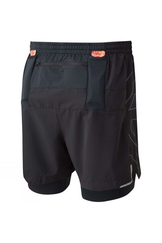 Ronhill Men's Tech Marathon Twin Short All Black