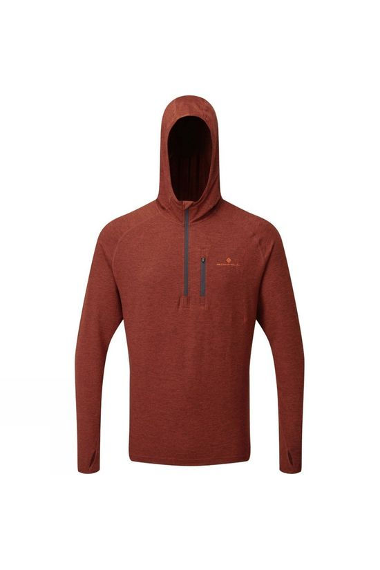Ronhill Men's Life Workout Hoodie Brick Marl/Charcoal