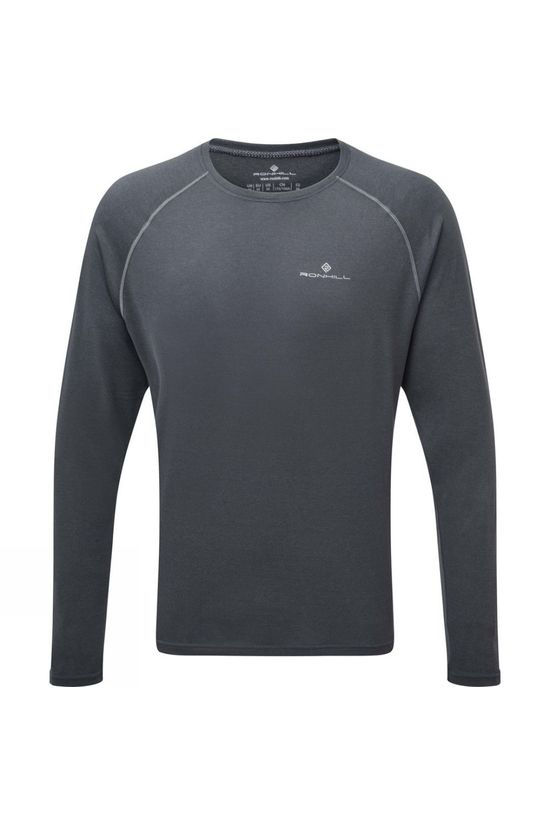 Ronhill Men's Core L/S Tee Charcoal Marl