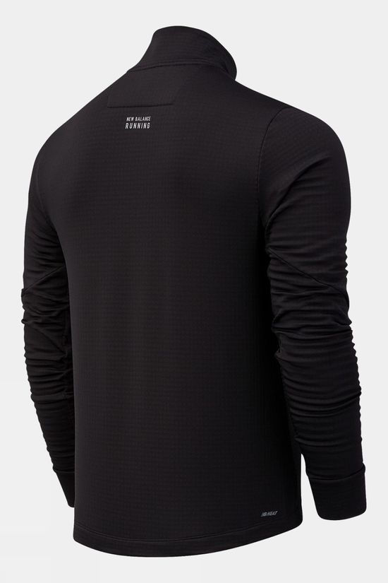 New Balance Mens Impact Run Grid Back 1/2 Zip Black