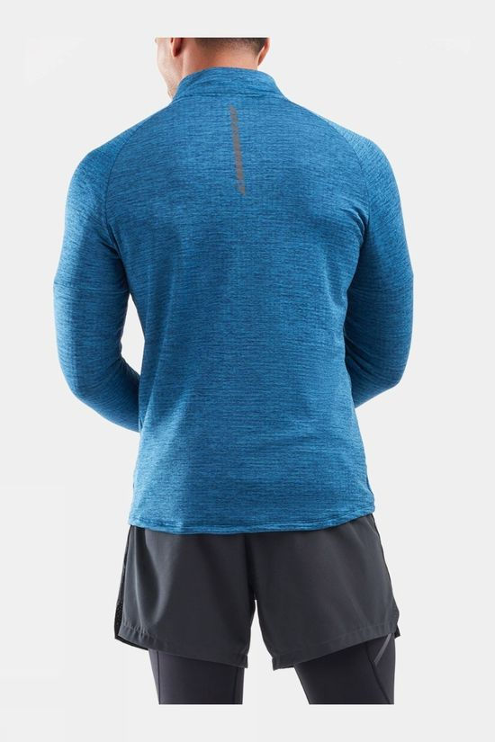 2XU Men's Pursuit Thermal 1/4 Zip Long Sleeve Top Poseidon/Silver Reflective