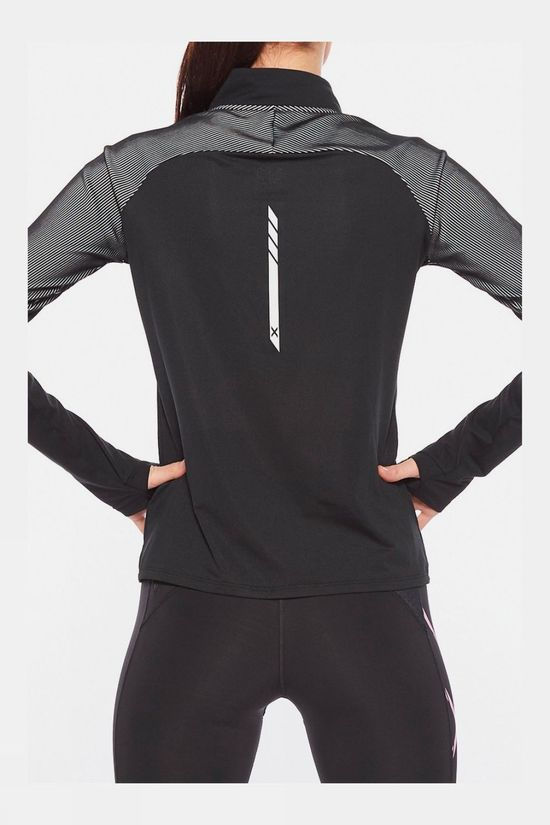 2XU Womens GHST 1/2 Zip Long Sleeve Top Black/White