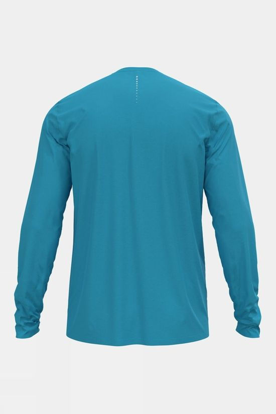 Odlo Mens Zeroweight Chill-Tec Long-Sleevev T-Shirt Horizon Blue
