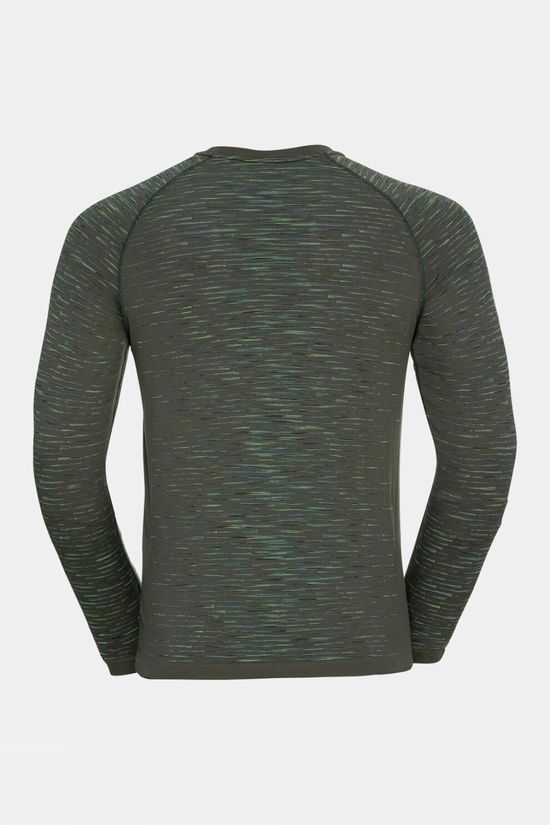 Odlo Mens Blackcomb Ceramicool Long Sleeve T-Shirt Climbing Ivy - Space Dye
