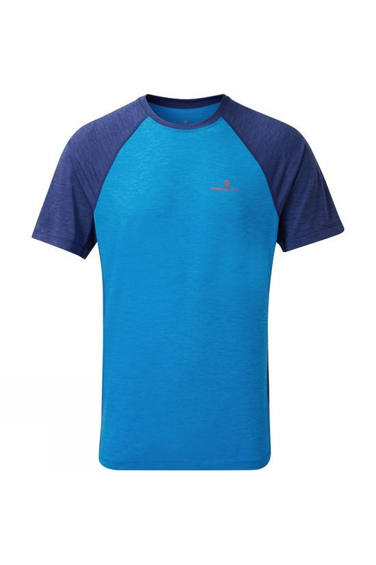 Ronhill Mens Momentum T-Shirt Electric Blue/Midnight Blue Marl