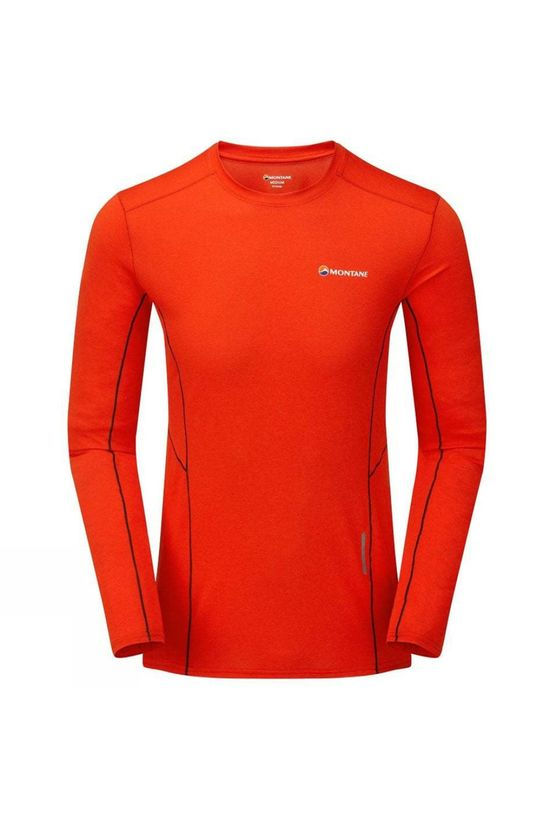 Montane Mens Sabre Long Sleeve T-shirt Flag Red