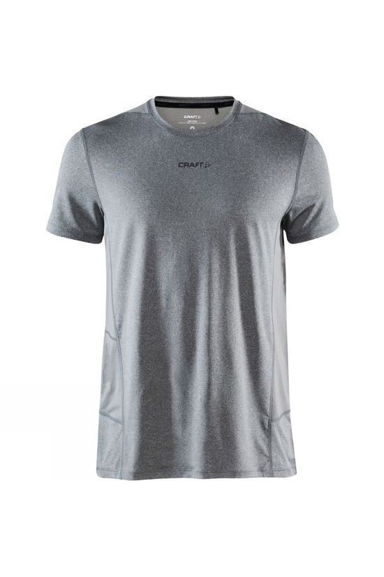 Craft Advance Essence Short Sleeve Tee Dark Grey Melange