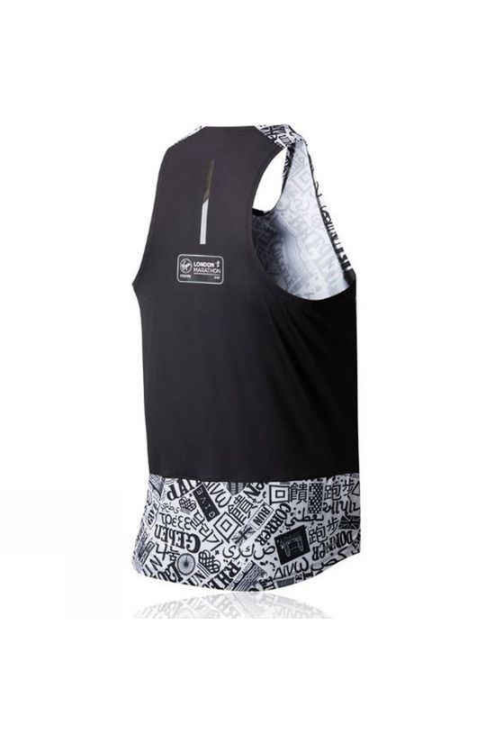 New Balance Men's London Edition Printed NB Ice Singlet Black Multi
