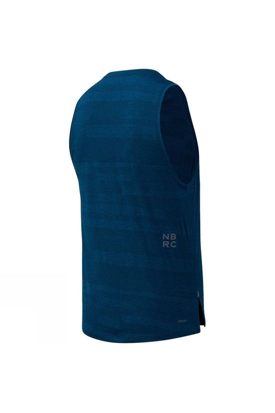 New Balance Mens Q Speed Fuel Jaquard Tank Rogue Wave
