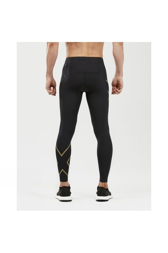 2XU Mens MCS Run Compression Tights  Black/Gold