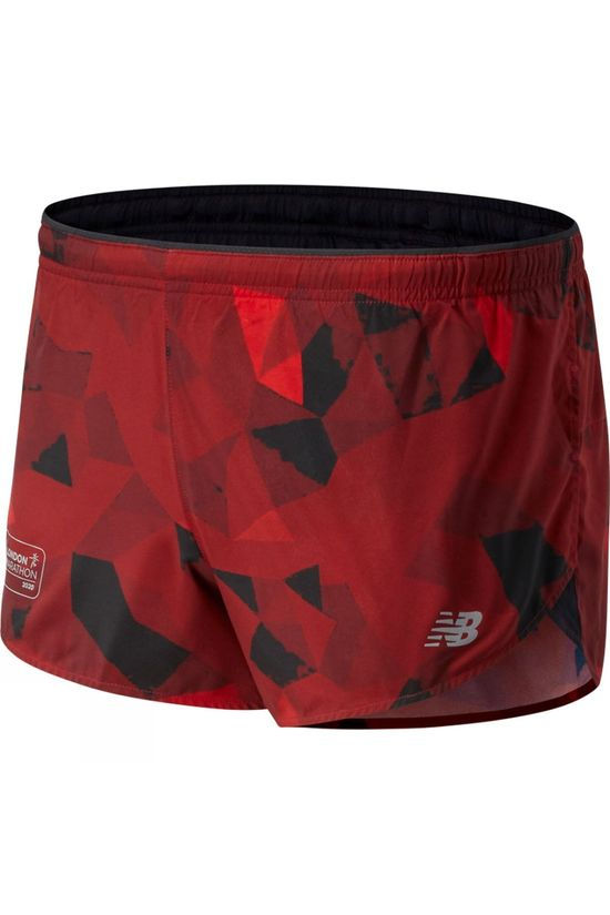 New Balance London Edition Printed Impact Run 3in Split Short Deep Red