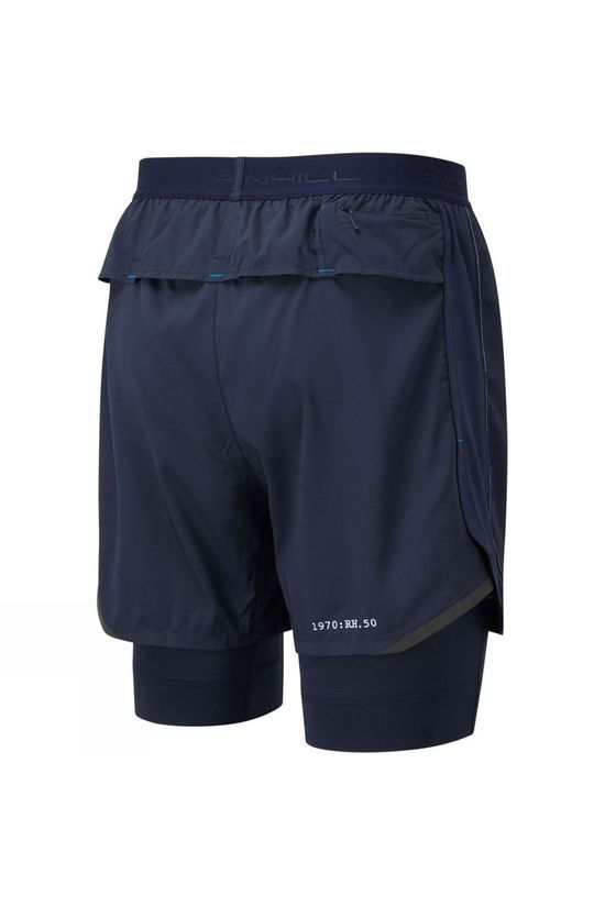 "Ronhill Men's Tech Revive 5"" Twin Short Deep Navy/Atlantic"