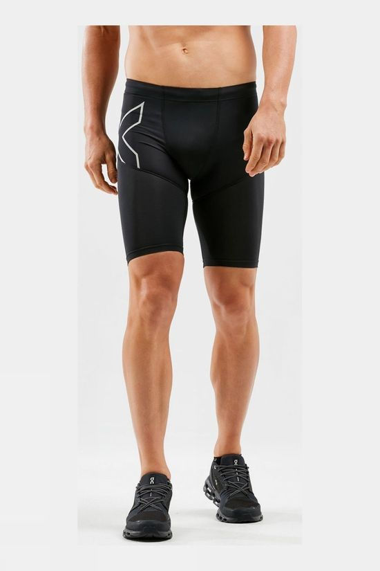 2XU Run Dash Compression Shorts Black/Silver