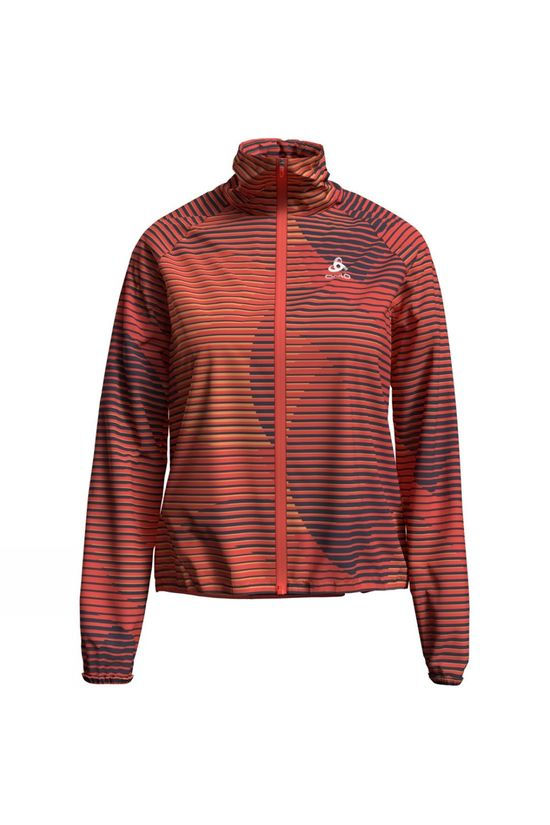 Odlo Womens Zeroweight Jacket Hot Coral Print