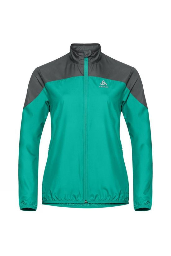 Odlo Womens Element Light Jacket Pool Green - Odlo Graphite Grey