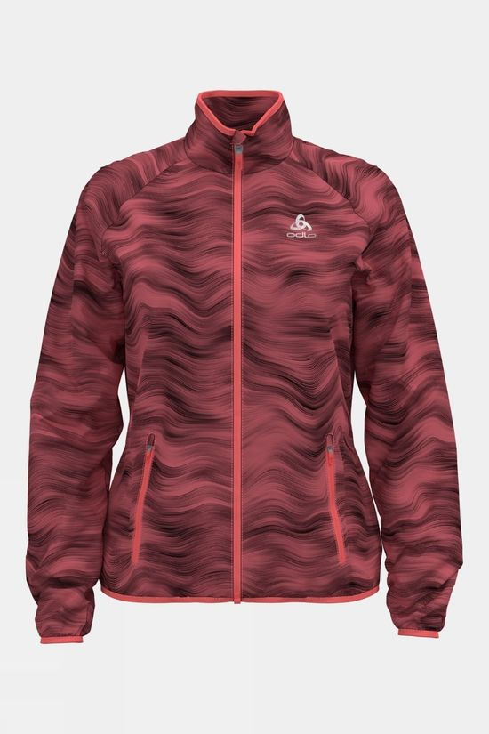 Odlo Women's Essenial Light Print Jacket Siesta Graphic