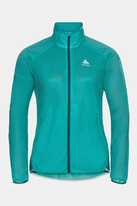 Odlo Women's Zeroweight Dual Dry Water-Resistant Jacket Jaded