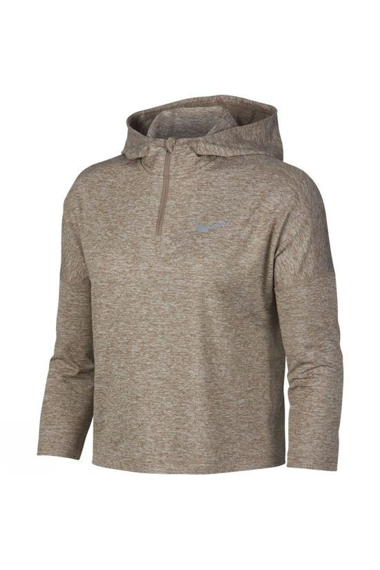 Nike Womens Dry Element Crop Hoodie Sepia Stone Heather